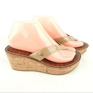 Sam Edelman Romy 7 vegan thong cork wedge sandals